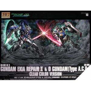 Maqueta 1/144 Gundam Exia Repair II & 0 Gundam [Type A.C.D.] Clear Color Version