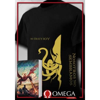 Canción de Hielo y Fuego V - Danza de Dragones (Rústica) + Camiseta Stark v.2
