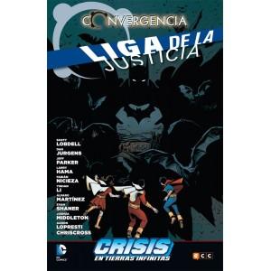 Liga de la Justicia converge en Crisis en las Tierras Infinitas