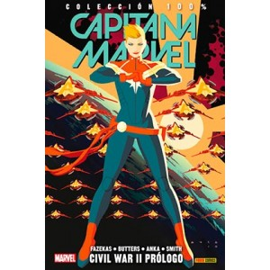 100% Marvel. Capitana marvel 05 civil war II prologo