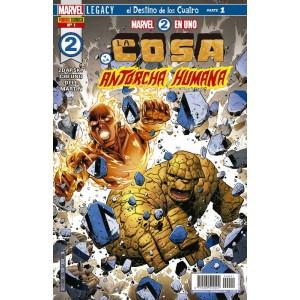Héroes Marvel - Marvel 2 en uno: La Cosa y la Antorcha Humana nº 01
