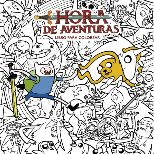 Hora De Aventuras Libro Para Colorear Omega Center Madrid