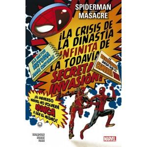 100% Marvel. Spiderman / Masacre: La crisis de la dinastía infinita de la todavía secreta invasión