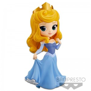 Disney Minifigura Q Posket Princess Aurora (Blue Dress)