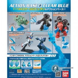 GUNDAM ACTION BASE 2 CLEAR BLUE 1/144