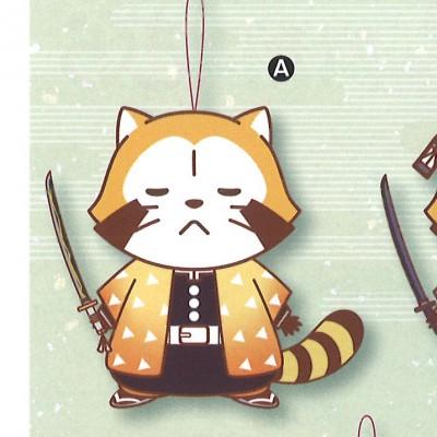 Kimetsu no Yaiba x Rascal the Raccoon Collaboration Plush - Zenitsu Rascal Ver.