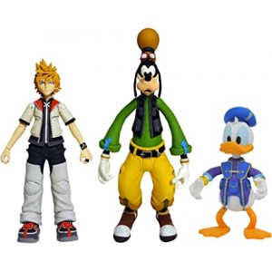 Kingdom Hearts Select Pack - Roxas, Donald y Goofy
