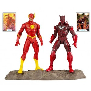 DC Multiverse Pack 2 Figuras Collector Multipack Earth - 52 Batman VS Flash
